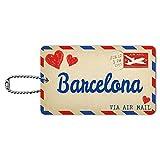 Air Mail Postkarte LOVE für Barcelona, ID-Tag Gepäck-Koffer Handgepäck