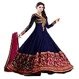 Muta Fashions Women's Georgette Salwar Suit (SUIT145_21_Multi-Coloured_Free Size)