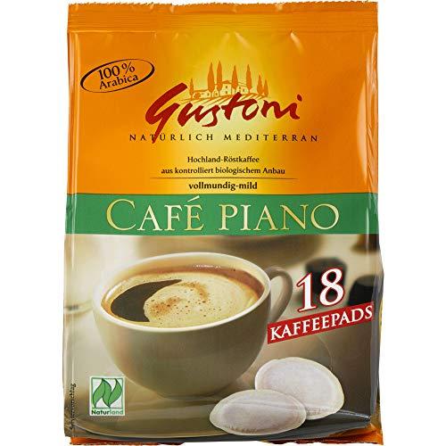 Gustoni Bio Café piano Kaffee-Pads, Kaffee aus Mexico und Peru (6 x 125 gr)