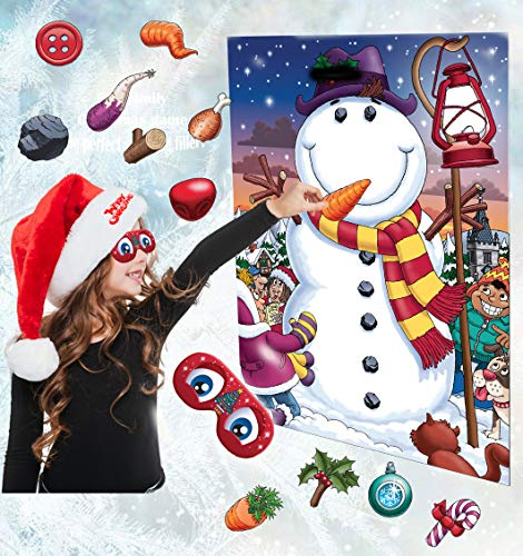 Pin The Nose On The Snowman Christmas Party Family Stocking Filler Game