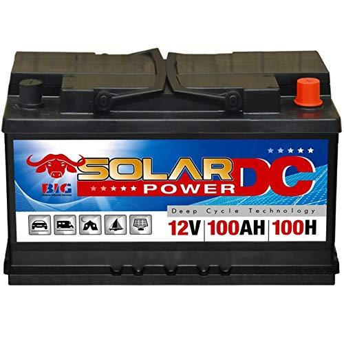 Solarbatterie 100Ah BIG 12V Versorgungsbatterie Boot Caravan