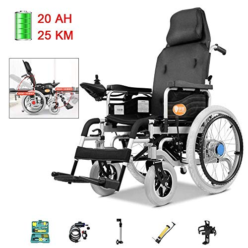 Y-L Elektrische Ältere Rollstuhl-Reise Faltbare und Leichte Justierbare Rückenlehne und Pedal-Winkel-Intelligenter Automatischer Bremskraft-Doppelmotor, c Dual-Modus