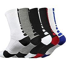 Litthing Calcetines deportivos antideslizantes de algodón para hombre Desodorante respirables para baloncesto fútbol Yoga de balonmano