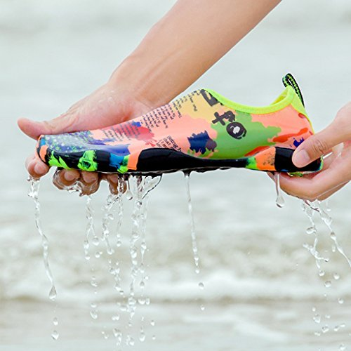 DoGeek Strandschuhe Badeschuhe Aquaschuhe Wasserschuhe Surfschuhe mit Rutschfeste Sohlen für Damen Herren Kinder Mehrfarbig