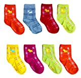 #5: ESELPRO BABY BOYS GIRLS COTTON ANKLE LENGTH SOCKS 2-4 YEARS (Set of 8 pairs) ASSORTED DESIGNS