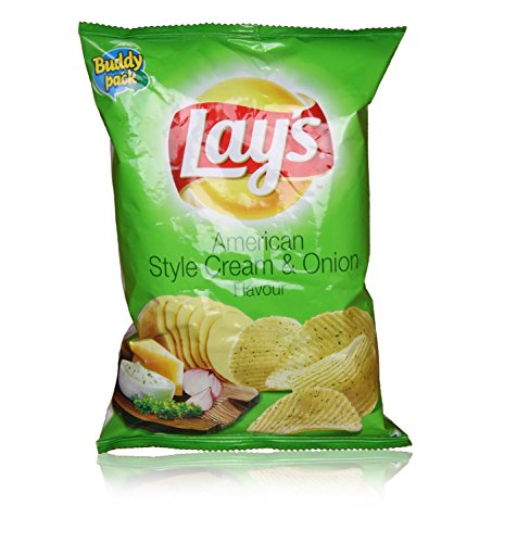 Lays Potato Chips - American Style Cream and Onion Flavour Party Pack,  25g Pouch