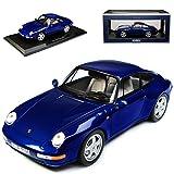 Norev Porsche 911 993 Carrera Coupe Iris Blau Metallic 1993-1998 1/18 Modell Auto