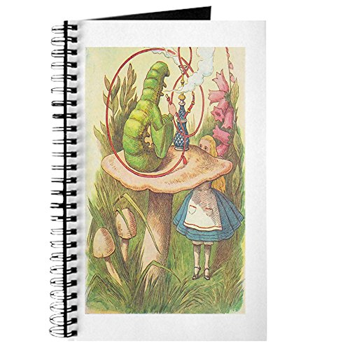 CafePress - The Hookah Smoking Caterpillar - Spiralgebundenes Tagebuch, persönliches Tagebuch, Punktraster