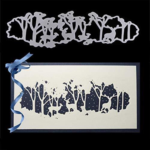Stanzschablonen aus Metall, kissSBUTY Criss-Cross Metall Scrapbooking Schablonen Schablonen Schablonen Prägung für Karten Scrapbooking Basteln Papier Dekoration wald -