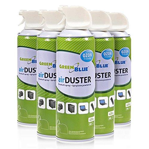 GreenBlue GB400 Air Duster Reinigung Druckluft Spray 400ml Druckluftspray Druckluftreiniger (6)
