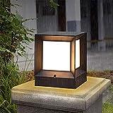 Lampada Da Parete Lampione Cortile Colonna Esterna Lampada Cancello Villa Giardino Parco Impermeabile Recinzione Giardino Villa Decorazione Colonna Luminosa