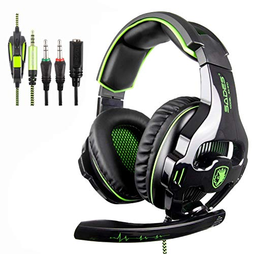 SADES SA810 Cuffie Gaming 3.5 mm Wired Over Ear Xbox one Cuffie con microfono Noise Cancelling Headphones per PS4 Xbox one PC Laptop Mac iPad