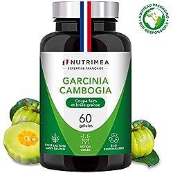 GARCINIA CAMBOGIA Pure - NOUVEAU PACKAGING - Coupe faim et brûleur de graisse naturel - 60% d'AHC - 60 gélules de 500 mg VEGAN - Complément Minceur idéal pour régime - Fabrication Française