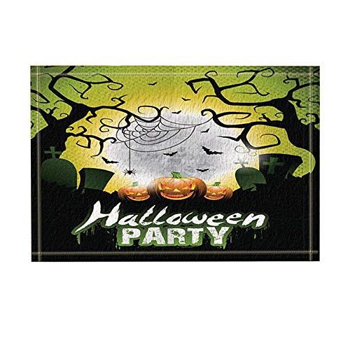 Halloween Party Bad Teppiche rutschfeste Fußmatte Boden Eingänge Outdoor Indoor Haustür Matte Kinder Badematte 15,7x23,6 Zoll Bad-Accessoires ()