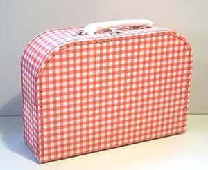 Valise de vacance pour Enfant ou pour Poupée - quadrillé - carton - 25cm - 530003