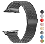 VIKATech Für Apple Watch Armband 42mm, Milanese Schlaufe Edelstahl Smart Watch Armbänder mit einzigartiger Magnetverriegelung für Apple Watch Armband 42mm Series 3/2/1, Sport, Edition, Space Gray
