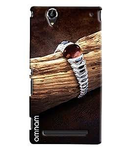 Omnam Diamond Bracelet On Woods Printed Designer Back Cover Case For Sony Xperia T2 Ultra