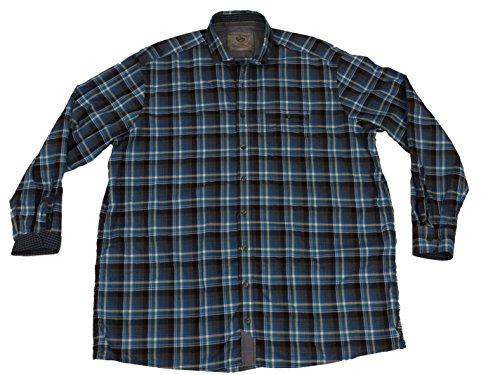 Freizeit-Herren-Hemd von CasaModa, blau kariert Blau