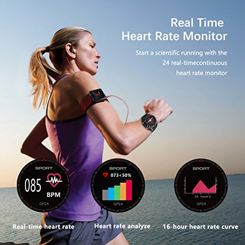 51B4wCS6DgL. SS500  - Smart watch,Sports Watch with Altimeter/ Barometer/Thermometer and Built-in GPS , Fitness Tracker for Running,Hiking and Climbing ,IP67 Waterproof Heart Rate Monitor for Men, Women and Adventurer.