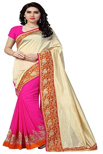 Sunshine Fashion Women's Joya Silk, D. Georgette & Benglori Silk Saree With...