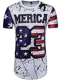 Camisetas, ❤ ⚽️Ba Zha Hei Jersey Impresión de texto 23 Camiseta Para Hombre de Manga Corta con Estampado de Fútbol Camiseta Larga…
