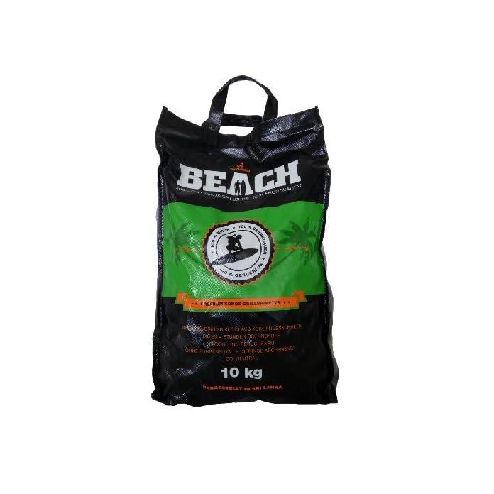 10 Kg Beach Kokos Grill Briketts Von Blacksellig Reine Kokosnussschalen Grillkohle Perfekte Profiqualitt Reach Registriert