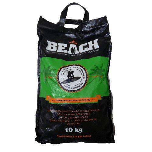 dutch oven kohle BlackSellig 10 Kg Beach Kokos Grill Briketts Reine Kokosnussschalen Grillkohle - perfekte Profiqualität - Reach registriert