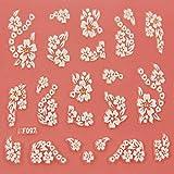 EVTECH (TM) 5 PCS-Nagel-Aufkleber-Nagel-Kunst-Werkzeug 3D Sticker Craved Blumen Schöne Nail Sticker Tatoo