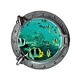 Wandtattoo Wandsticker, Jamicy® Fantastischen u-Boot-Bullaugen Fisch Unterwasser Welt Wand Aufkleber Home Decor (A)