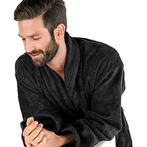 788ec79954b1db Herren Uniwalk-Frottee Bademantel mit Schalkragen aus 100% Baumwolle, für  Damen u. Herren ...