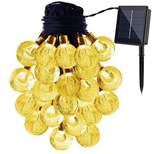 ichterketten für Weihnachten Party Hochzeit Hof und Ferien Dekorationen Solar Betrieben Wasserdicht Globus Garten Lichter 2 Stufen 30 Glühbirnen - Warm Licht ()