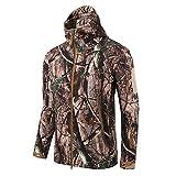 Kanpola Jacken Herren Outdoor Camouflage Winddicht Warm Kapuzenjacke Sport Uniform SAMT Mantel mit Taschen Kapuze Sweatjacke Kapuzenpullover