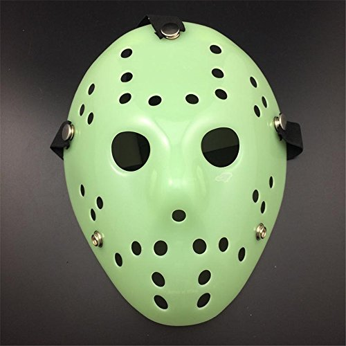 Extrem Glühen in der dunklen Fancy Dress Jason X vS Freddy Halloween Freitag der 13. Hockey-Masken in ein Leuchten in die dunkle Farbe Farben Erwachsene PVC hochwertige Profi-Maske mit elastischem Klettband Fancy Gesicht Maske Halloween-Costumeplay