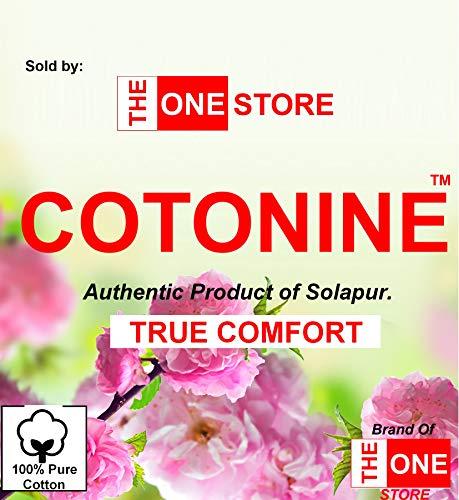 Cotonine - Extra Large Size Multi Purpose Cotton Carpet/Solapuri Satranji (Blue, 85 X 116 inch)