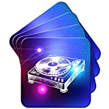 Lineart DJ-Decks Turntables Set aus 4 Untersetzern