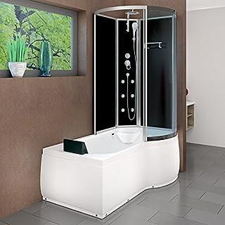AcquaVapore DTP8050-A300L Wanne Duschtempel Badewanne Dusche Duschkabine 170x98, EasyClean Versiegelung der Scheiben:Nein! +0.-EUR