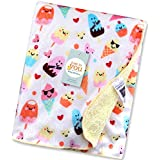 Baby Bucket Double Layer Velvet Fleece Newborn Printed Baby Blanket (WH+LYELL)