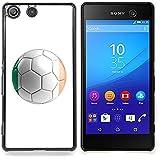STPlus Bandera y balón irlandeses del equipo de fútbol de República de Irlanda Carcasa Funda Rigida Para Sony Xperia M5 / M5 Dual