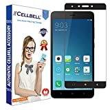 #7: CELLBELL® Xiaomi Redmi Note 4-full covered(BLACK) Tempered Glass Screen Protector With FREE Installation Kit
