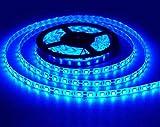 LEDUNI ® Tira de LED 5M 14.4W/M AC 12V IP65 300LEDS Luminosidad 420LM Angulo 120 Azul