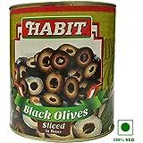 Habit Vegetarian Black Olives Sliced in brine 3 kg