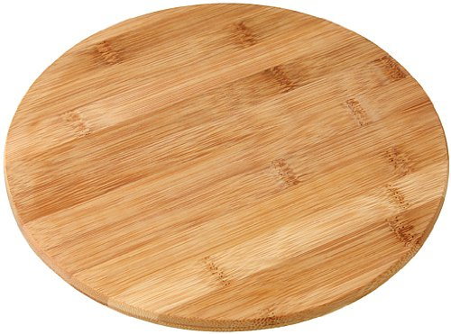 Fackelmann 37742 - tagliere rotondo in bambù, ø 24 cm