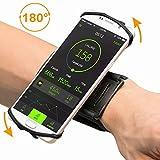 Opard Sportarmband Handyhalterung 180° Drehbar Universell Passend für iPhone 6 7 Plus, Samsung Galaxy S7 S8 Edge (4 to 5,5 inch) Fitness Armband für Laufen, Joggen, Wandern