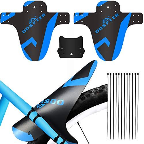 ODSPTER Schutzblech MTB Fahrrad, Vorne Hinten Schutzbleche Mountainbike Fahrrad Spritzschutz mit Kabelbinder für 26-29 Zoll Mud Guard (Blau 2 PCS)