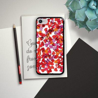 Apple iPhone X Silikon Hülle Case Schutzhülle Liebe Herz Muster Hard Case schwarz