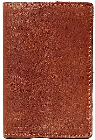 LE CARNET S carnet cuir intérieur papier artisanal recyclé 100 pages style vintage PAUL MARIUS