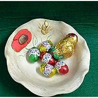 Ciotola svuotatasche, portacioccolattini in ceramica linea papaveri