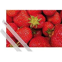 Póster + Soporte: Frutas Póster (91x61 cm) Dulces Fresas Y 1 Lote De 2 Varillas Transparentes 1art1®