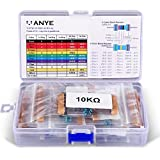 VANYE Set Resistore A Film Metallico 525pz 17 Values 1% Tolleranza Metal Film resistori 0 Ohm-1M Ohm, 1/4 W, Pin (0.022 inches, φ0.55mm) Per Arduino e Altri Progetti di Elettronica