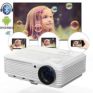 WiFi Video Beamer Android Bluetooth LCD Projektor 3900 Lumen Volle Unterstützung für HD 1080P, LED Multimedia Heimkino Projektor mit AirPlay Miracast Anzeige HDMI USB VGA für Partyspiele